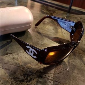 Chanel Tortoise Mother of Pearl Sunglasses